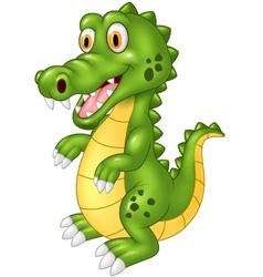 Happy crocodile standing vector image