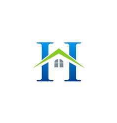 House roinitial letter h logo vector