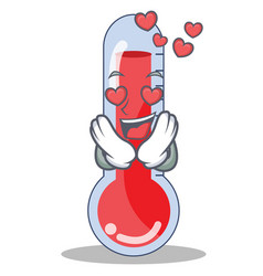 In love thermometer character cartoon collection vector