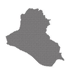 iraq map vector image