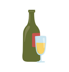 Isolated alcohol bottle and cup icon design vector