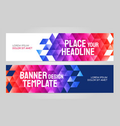 layout banner template design for sport event 2019 vector image