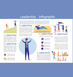 leadership and business activity infographics set vector image