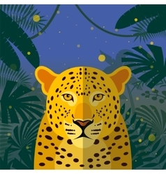leopard on jungle background vector image