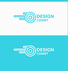 linear logo comet sign for transportation company vector image