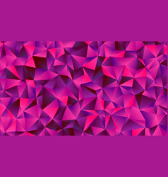 magenta and purple low poly bg with triangles vector image