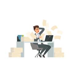 man received letter torn deadlines businessman vector image