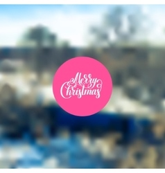 merry christmas handwritten lettering text on vector image