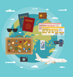 modern flat style concept for tourism industry vector image