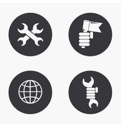 modern labour day icons set vector image