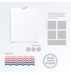 Mood board template vector