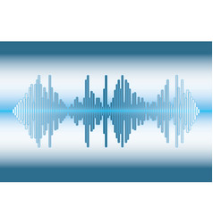 Music wave background vector