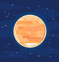 Planet venus in space in flat style vector