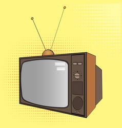 pop art background electronic equipment old tv vector image