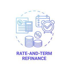 Rate-and-term refinance concept icon vector