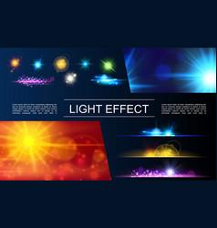 realistic light elements concept vector image