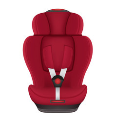 Red child car seat isolated on a white background vector