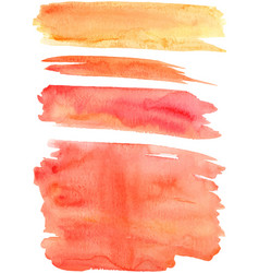 Red orange paint strokes vector