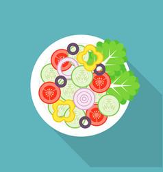 Salad with long shadow vector