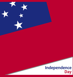 Samoa independence day vector