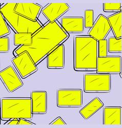 Seamless abstract conceptual hand drawn handphone vector