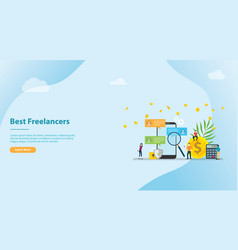 search and find best freelancer work remote vector image