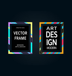 set of hand painted brush frames quote vector image