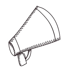 silhouette of megaphone flat icon vector image