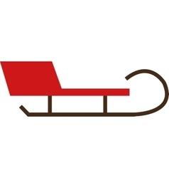 Single sleigh icon vector