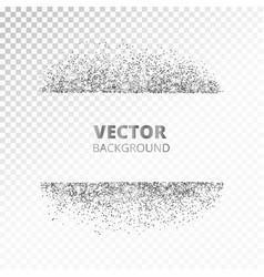 Sparkling glitter border frame scattered silver vector