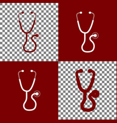 stethoscope sign bordo and vector image