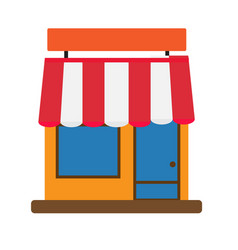 Storefront icon on white background storefront vector