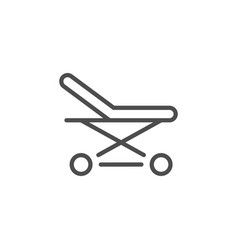 stretchers line icon vector image