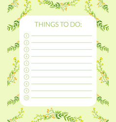 Things to do banner label template planner for vector