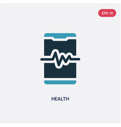 Two color health icon from mobile app concept vector