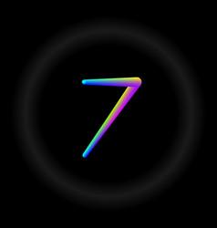 Typo number 7 3d neon fonts modern alphabet vector