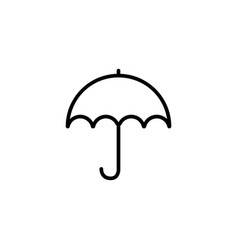 umbrella line icon in flat style for apps ui vector image