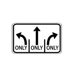 usa traffic road signs left lane must turn vector image