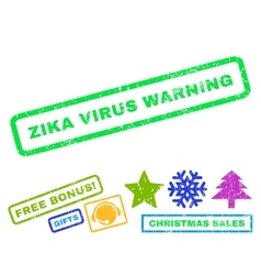 Zika Virus Warning Rubber Stamp vector