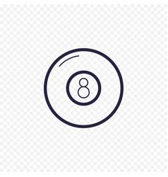 pool eight ball line icon billiard game thin vector image vector image