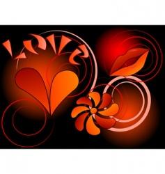 symbol of love vector image vector image