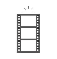 Tape record film icon vector