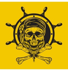 a pirate skull vector image