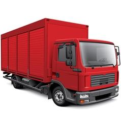 European box truck vector image vector image
