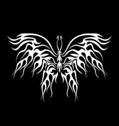 Flaming butterfly vector image