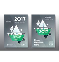 Green color scheme business book cover design vector
