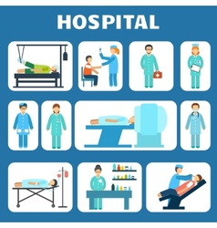 Medical flat pictograms set vector image vector image