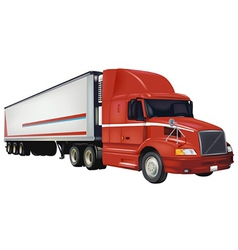 Red Trailer Truck vector image
