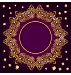 Royal Luxury Ornamental Golden Frame vector image vector image