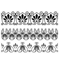 Set of floral vintage embellishments vector image vector image